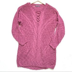 Suzy Shier   3/4 Sleeve Knitted Tunic